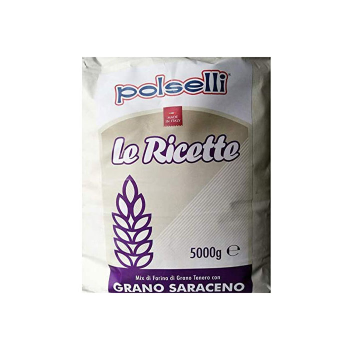 "POLSELLI FLOUR ""THE RECIPES"" BUCKWHEAT Kg. 5"